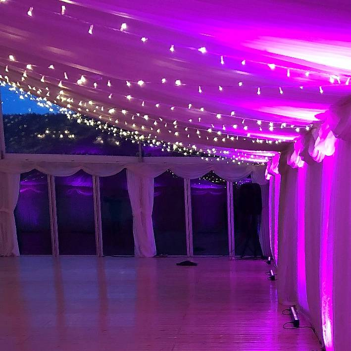 showequip wedding and event hire indoor lights
