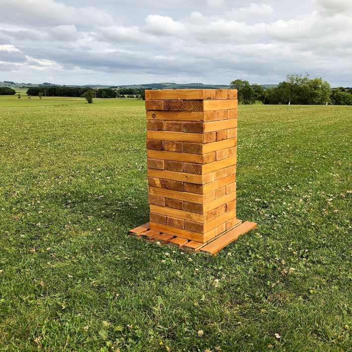 showequip wedding and event hire wooden tower for outdoor games